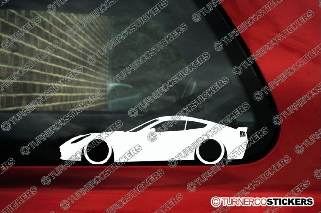 2x LOW CHEVROLET CORVETTE C7 Stingray Lowered Car outline stickers